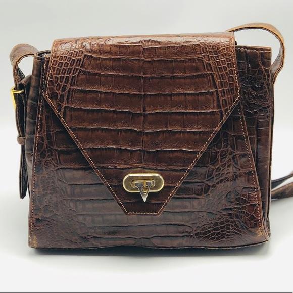 72a2bd7eef Valentino Garavani Bags | Vintage Brown Crocodile Leather | Poshmark
